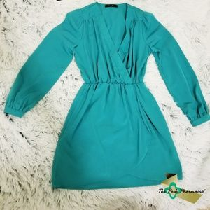 Dresses & Skirts - Teal Green Wrap Dress